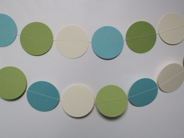 light blue, ivory and sour apple